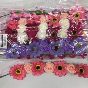 זר פרחים (חרציות) לראש
