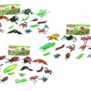 סט חיות חרקים ו זוחלים 1/120 בקרטון