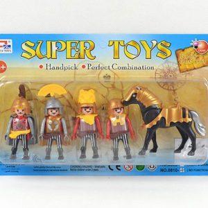 דמויות אבירים ו סוס בלוח
