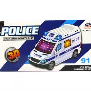 אוטו משטרה סוללה + מוסיקה ואורות