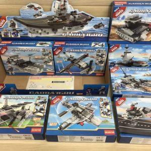 סט משחק הרכבה ליאגו כלי מלחמה ענק 676 חלקים / 8 קופסאות להרכבת כלי מלחמה קטנים