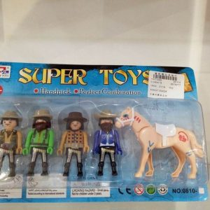 דמויות אבירים ו סוס בלוח-