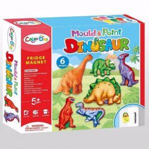 אבקת גבס ליצירת 6 דוגמאות דינוזאורים  לצביעה