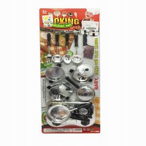 סט כלי מטבח בלוח