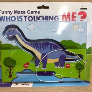 משחק – לוח מבוך דינוזאור בלוח