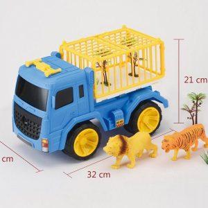 משאית חיות + נמר ואריה