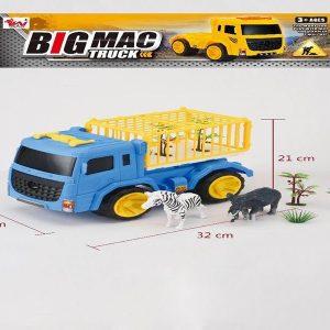 משאית חיות + זברה ופיל