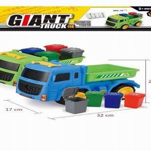 משאית פחי מיחזור הכוללת קלפי משחק למיון